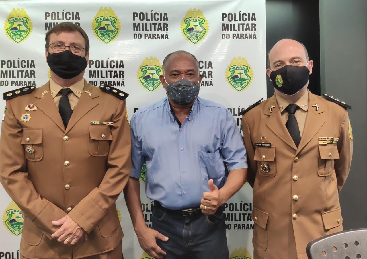 Presidente da Acamdoze participa da troca de comando da PM em Campo Mourão
